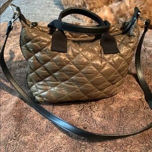 Quilted Mini Tote with Long Strap